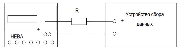 Схема подключения основного передающего устройства