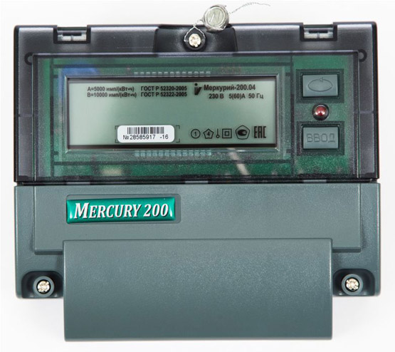 Счетчик mercury 200 как снимать показания