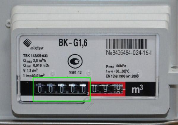 показания bk-g1.6