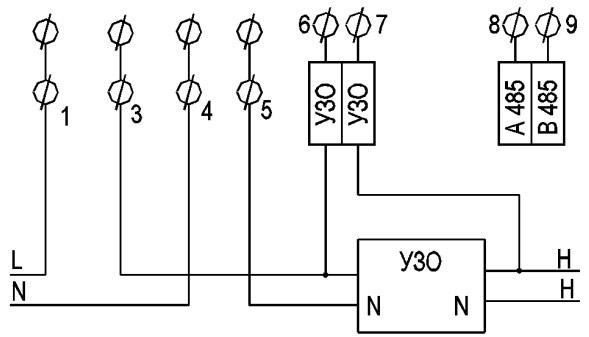 Схема подключение счётчика Агат 2-45