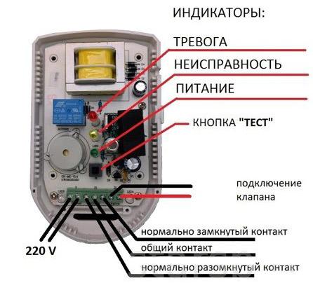 Схема и конструкция сигнализатора